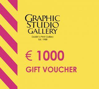 € 1000 gift voucher graphic studio gallery