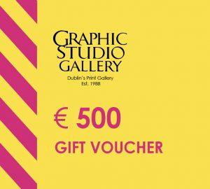 € 500 gift voucher graphic studio gallery