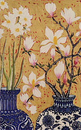 Jean Bardon, Paperwhites and Magnolia
