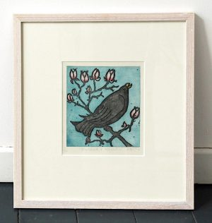 Graphic Studio Dublin •Margaret Becker: Graphic Studio Dublin: Blackbird and Magnolia (SOLD)