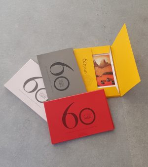 Graphic Studio Dublin: CARDALOG 60 years of GSD-2020, 4 packs- red, yellow, pink, grey