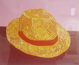 Graphic Studio Dublin •Gerard Cox: Gerard Cox_Old Venetian Straw Hat No2_Woodblock