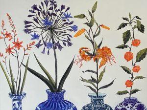 Graphic Studio Dublin •Jean Bardon: Montbretia, Agapanthus, Tiger Lily and Chineses Lanterns