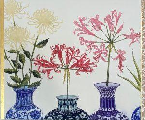 Graphic Studio Dublin •Jean Bardon: Nerines and Chrysanthemus