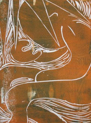 Graphic Studio Dublin • Joe Ryan: Joe Ryan_In Contemplation_linocut