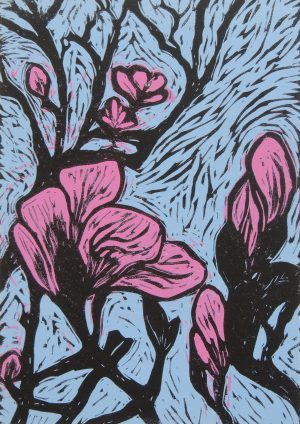 Graphic Studio Dublin • Mary Grey: Mary Grey_Magnolia_linoprint