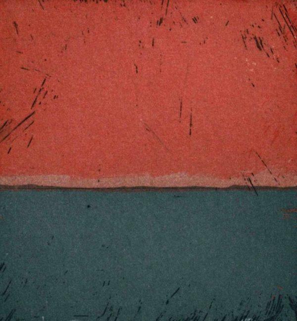Michele Hetherington_Polaroid series_ Sunset 17 42_etching