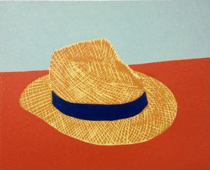 Graphic Studio Dublin •Gerard Cox: Graphic Studio Dublin: Old Venetian Straw Hat No. 1