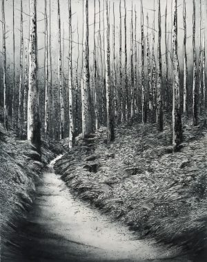 Sorca O'Farrell_Ghost Forest_etching