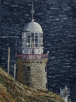 Susan Early_Lighthouse at Baily_Etching
