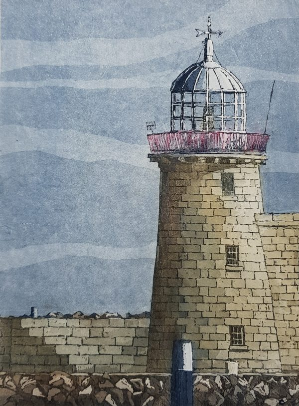 Susan Early_Lighthouse at Howth_Etching