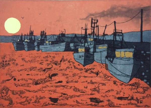 Graphic Studio Dublin: Home from the Sea, Skerries Harbour