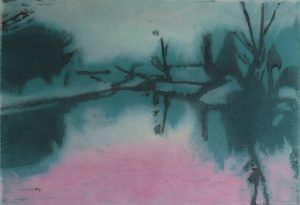 Graphic Studio Dublin •Geraldine O'Reilly: Graphic Studio Dublin: Late Evening on the Royal Canal 2 (SOLD)