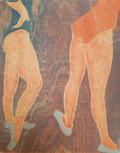Two dancing daughters, Inspired by 'She mends an ancient wireless' by Paul Durcan