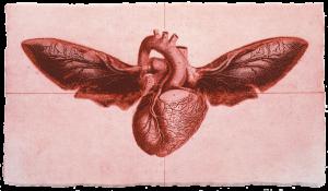 Graphic Studio Dublin •Andrew Folan: Flying Heart 2D