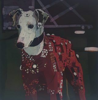 Colin Martin-Dog (Motion Capture)-Etching- VA GSD 2019-44.5 x 44.5cm (Plate)- 62.5 x 61cm (paper)
