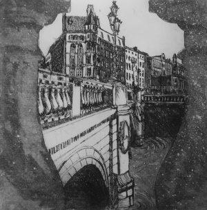 Graphic Studio Dublin •Niamh MacGowan: O'Connell Bridge, Dublin