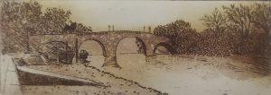 Graphic Studio Dublin •Niamh MacGowan: Richmond Bridge at Draw off