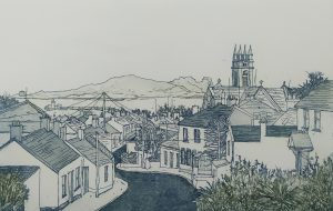 Graphic Studio Dublin • Susan Early: Howth Village I