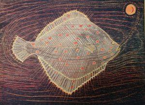 Diamond Point-Jennifer Lane-woodblock print-Plaice
