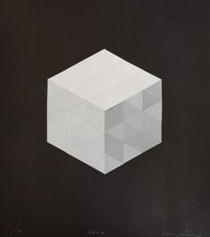 Graphic Studio Dublin •Katsutoshi Yuasa: Diamond Point-Katsutoshi Yuasa-Mokuhanga, Japanese Woodblock - Geom