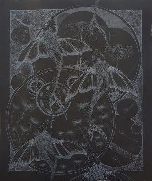Graphic Studio Dublin •Melissa Ellis: Diamond Point-Melissa Ellis- etching- Starlight