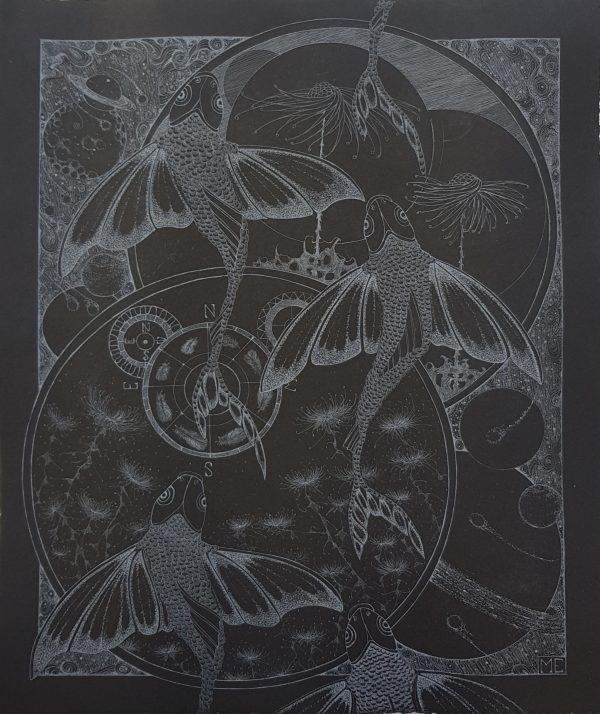 Diamond Point-Melissa Ellis- etching- Starlight