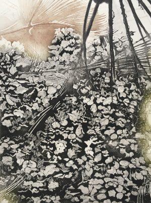 Graphic Studio Dublin •Michelle Fahy: Diamond Point-Michelle Fahy - etching- Green Aventurine