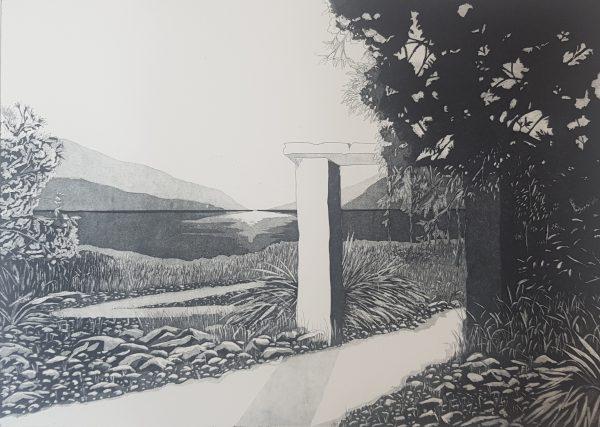 Diamond Point-Rebecca Phelan -etching