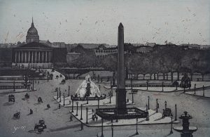 Graphic Studio Dublin • Vaida Varnagiene: Diamond point-Vaida Varnagiene- Intaglio etching - A Postcard from Paris