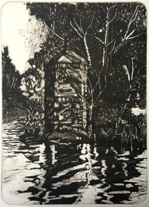 Graphic Studio Dublin •Adrienne Symes: Graphic Studio Dublin: Boathouse Leixlip
