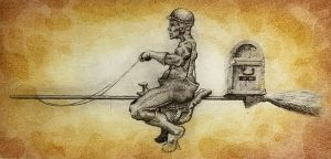 Graphic Studio Dublin •Kelvin Mann: Equestrian Witch €105