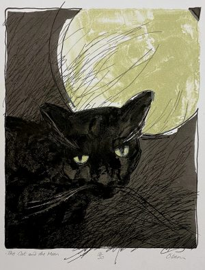 Graphic Studio Dublin •Liam O'Broin: Liam O'Broin, The Cat and the Moon €130