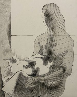Graphic Studio Dublin •Patrick Pye: Graphic Studio Dublin: Woman and Cat