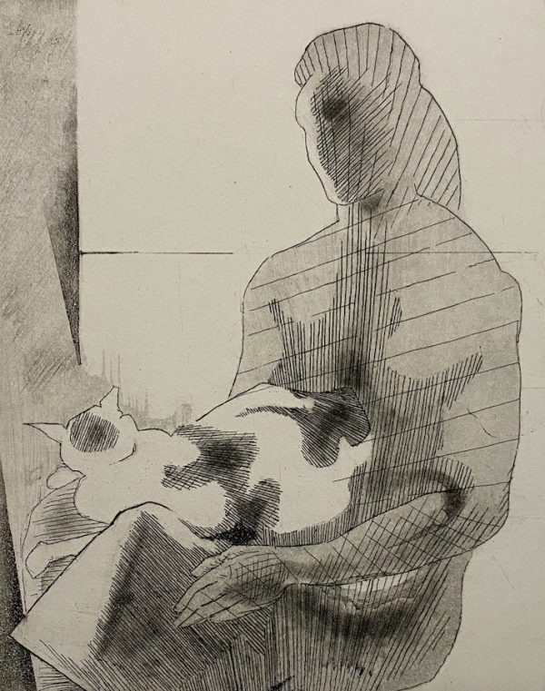 Graphic Studio Dublin: Woman and Cat