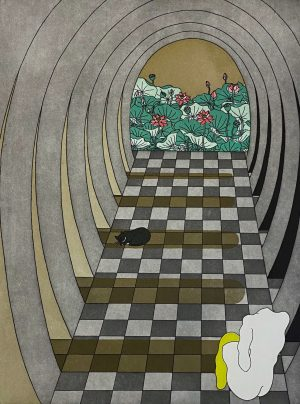 Graphic Studio Dublin •Yoko Akino: Yoko AKino, Through the corridor €250