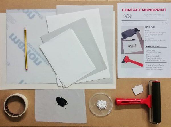 Graphic Studio Dublin: Contact Monoprint Online Workshop: Thursday 8th April 2021 SOLD OUT