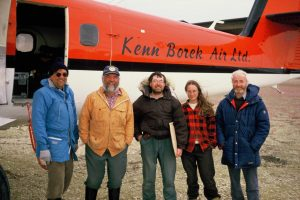 L-R. Claud Labine, Dave Gill, Keith Hay, Ms Gruber,Vincent Sheridan, Baffin Is. NWT.Canada