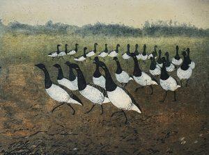 Graphic Studio Dublin •Vincent Sheridan: Goose-Step,32.9x25.9cm, ed of 50, etching WEB