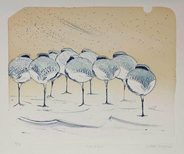 Vincent Sheridan, Roost Lithograph Size- 65cm x 50cm WEB