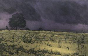 Graphic Studio Dublin •Marie-Louise Martin: Summer Storm-Monteriggioni